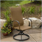 Outdoor GreatRoom Company Saddle Swivel Dining Wicker Rocker (Set of 2)