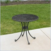 Outdoor GreatRoom Company Patio Bistro Table with Granite Top