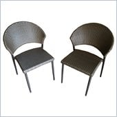 Outdoor GreatRoom Company Patio Bistro Wicker Chair (Set of 2)