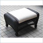 Outdoor GreatRoom Company Ottoman with 1 Piece Ivory Cushion