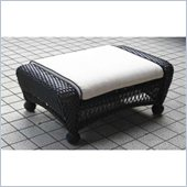 Outdoor GreatRoom Company Ebony All-Weather Wicker Double Ottoman