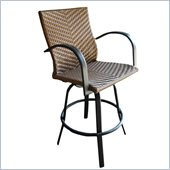 Outdoor GreatRoom Company Saddle Swivel Bar Stool (Set of 2)