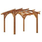 Outdoor GreatRoom Company Sonoma 12' x 12' Arched Wood Redwood Pergola