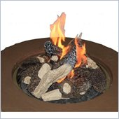 Outdoor GreatRoom Company Set of 6 Logs and Lava Rock