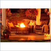 48 Inch Chat Round Fire Pit Table