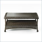 Balsam Wicker Coffee Table with Glass Top