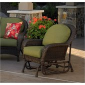 Balsam Deepseating Glider Chair in Dupione Aloe Acrylic Fabric