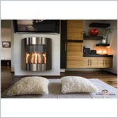 Inspiration Wall Hanging Gel Fireplace in Stainless Steel