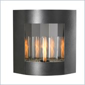 Inspiration Wall Hanging Gel Fireplace in Black/Silver Vein