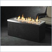 Key Largo Linear Burner Design Fire Pit with Crystal Fire Stainless Steel Burner