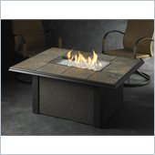 Napa Valley Rectangular Fire Pit Table in Browns/Tans/Greys