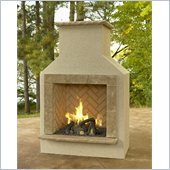 San Juan Gas Fireplace Surround in Mocha with Crystal Fire Burner