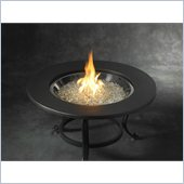 Tri-Pod Crystal Fire Pit with Cocoa Ring Table Top
