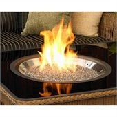 Outdoor GreatRoom Company Crystal Fire Wood Burning Stainless Steel Firepit