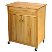 Catskill Craftsmen Mid-Size Two Door Kitchen Cart