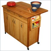 Catskill Craftsmen 44 Inch Butcher Block Drop Leaf Kitchen Island