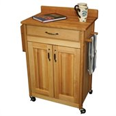 Catskill Craftsmen Deluxe Butcher Block Kitchen Cart