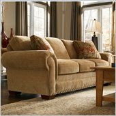 Broyhill Cambridge Three Seat Sofa with Attic Heirlooms Wood Stain