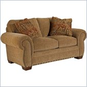 Broyhill Cambridge Two Seat Loveseat with Attic Heirlooms Wood Stain