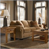Broyhill Cambridge Queen Good Night Sleeper Sofa with Attic Heirlooms Wood Stain