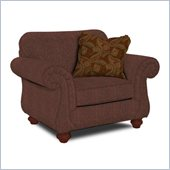 Broyhill Cierra Rust Brown Upholstered Chair with Cherry Wood Stain