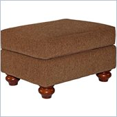 Broyhill Cierra Rust Brown Ottoman with Cherry Wood Stain