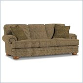 Broyhill Edward Three Seat Sofa with Pillows with Attic Heirlooms Wood Stain