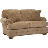 Broyhill Edward Two Seat Loveseat with Attic Heirlooms Wood Stain