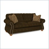 Broyhill Laramie Brown Sofa with Attic Heirlooms Wood Stain