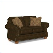 Broyhill Laramie Brown Loveseat with Attic Heirlooms Wood Stain