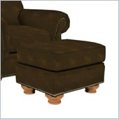 Broyhill Laramie Brown Ottoman with Attic Heirlooms Wood Stain