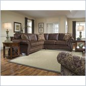 Broyhill Laramie 2 Piece Sectional Sofa with Cherry Wood Finish