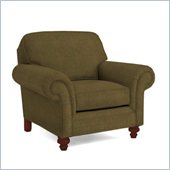 Broyhill Larissa Green Olive Chair with Cherry Wood Finish