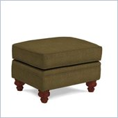 Broyhill Larissa Green Olive Ottoman with Cherry Wood Finish