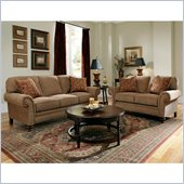 Broyhill Larissa 2 Piece Brown Queen Sleeper & Loveseat Set with Cherry Wood Finish