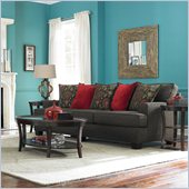 Broyhill Westport Dark Greyish Brown Sofa with Walnut Wood Finish