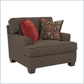 Broyhill Westport Dark Greyish Brown Chair And A Half with Walnut Wood Finish