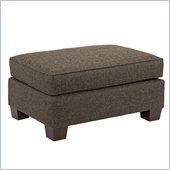 Broyhill Westport Dark Greyish Brown Ottoman with Walnut Wood Finish