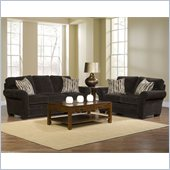 Broyhill Zachary Dark Brown Sofa and Loveseat Set with Affinity Wood Finish
