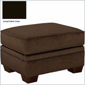Broyhill Dark Brown Zachary Ottoman with Affinity Wood Finish