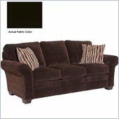 Broyhill Zachary Dark Brown Queen Goodnight Sleeper Sofa with Affinity Wood Finish