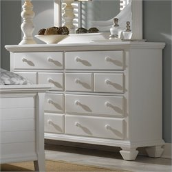 Broyhill Mirren Harbor Drawer Dresser in White