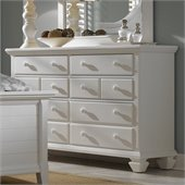 Broyhill Mirren Harbor 6 Drawer Dresser in White