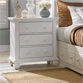 Broyhill Mirren Harbor 3 Drawer Night Stand in White