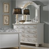 Broyhill Mirren Harbor 6 Drawer Dresser and Mirror Set in White