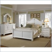 Broyhill Mirren Harbor Poster Bed 4 Piece Bedroom Set in White