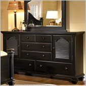 Broyhill Mirren Pointe Door Dresser in Chocolate Brown