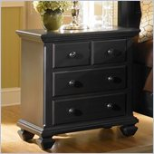 Broyhill Mirren Pointe Night Stand in Chocolate Brown