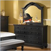 Broyhill Mirren Pointe Drawer Dresser w/ Mirror Set in Chocolate Brown