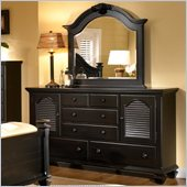 Broyhill Mirren Pointe Door Dresser w/ Mirror Set in Chocolate Brown